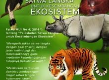 Poster Fatwa Pelestarian Satwa Langka untuk Keseimbangan Ekosistem