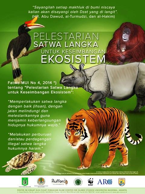 Poster Fatwa Pelestarian Satwa Langka Untuk Keseimbangan