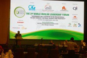 Prof Din Syamsuddin, memberikan pendapatnya tendang  leadership di dunia Muslim