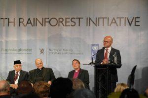 Norwegian Minister of Climate and Environment, Vidar Helgesen, speaking at Interfaith Rainforest Initiative in Oslo.  Photo: Ronny Hansen/Rain Forest Foundation Norway