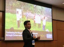 Sdr Akmal, dari Rimba memaparkan tentang implementasi pendekatan Islam untuk konservasi di Terengganu Malaysia
